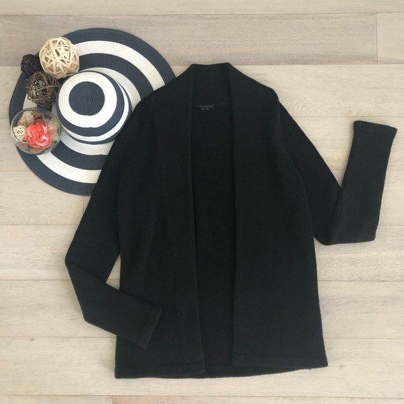 Theory Black Cardigan Sweater Size Medium 6 / 8